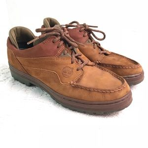 Timberland Brown Leather Low Top Hiking Shoes 8